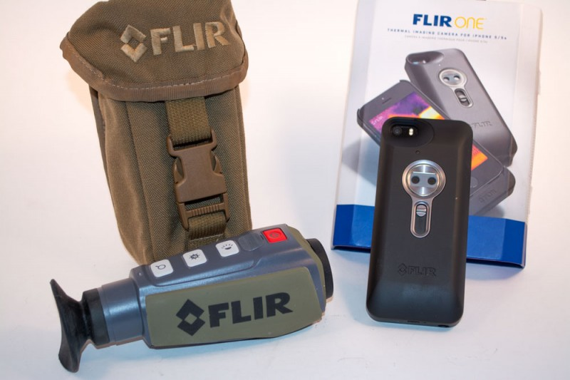 The FLIR Scout (left) and FLIR One iPhone camera (right)