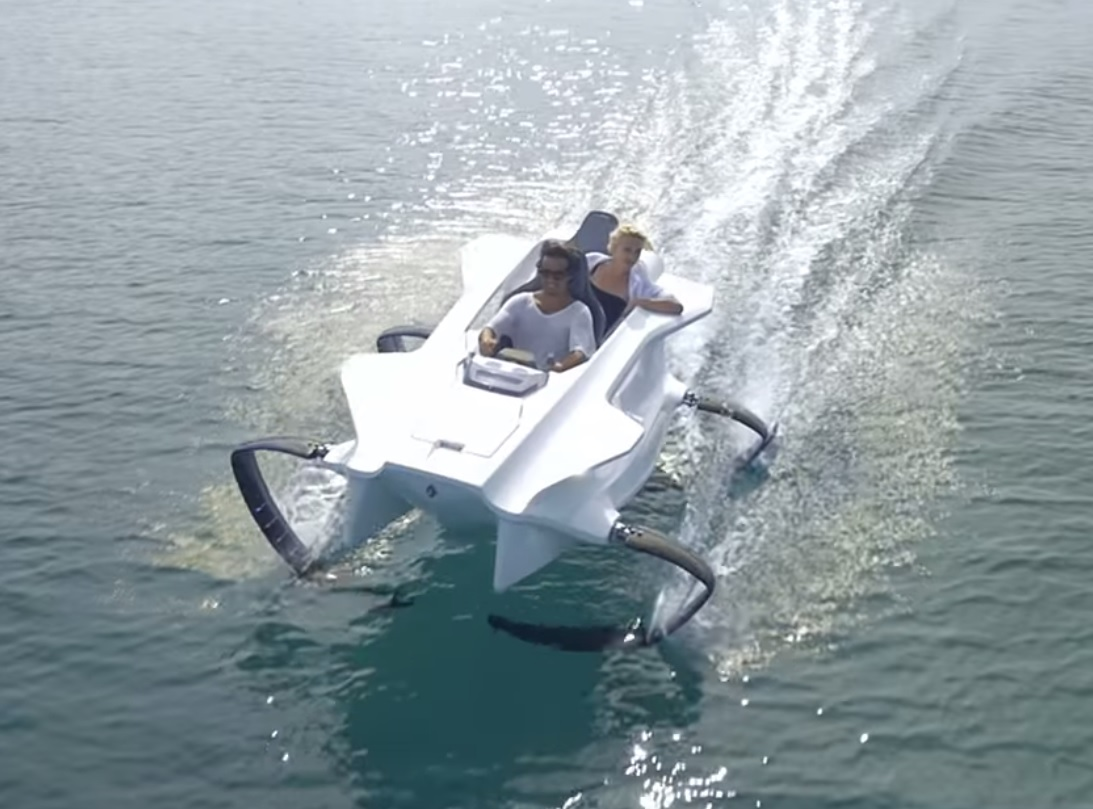 Video would you fish from this futuristic watercraft for Personal fishing boat