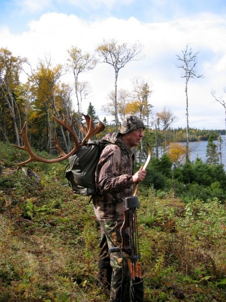 The author on his woodland caribou hunt. Image courtesy Dennis Dunn.
