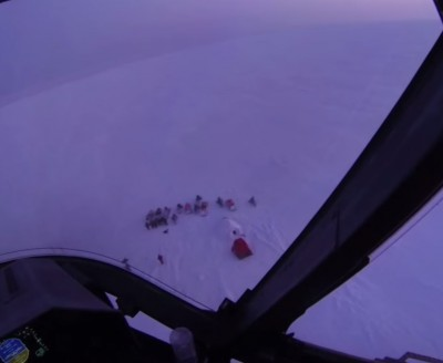 Eight hunters survived being stranded on drifting ice floe for two days, thanks in part to their own resourcefulness.