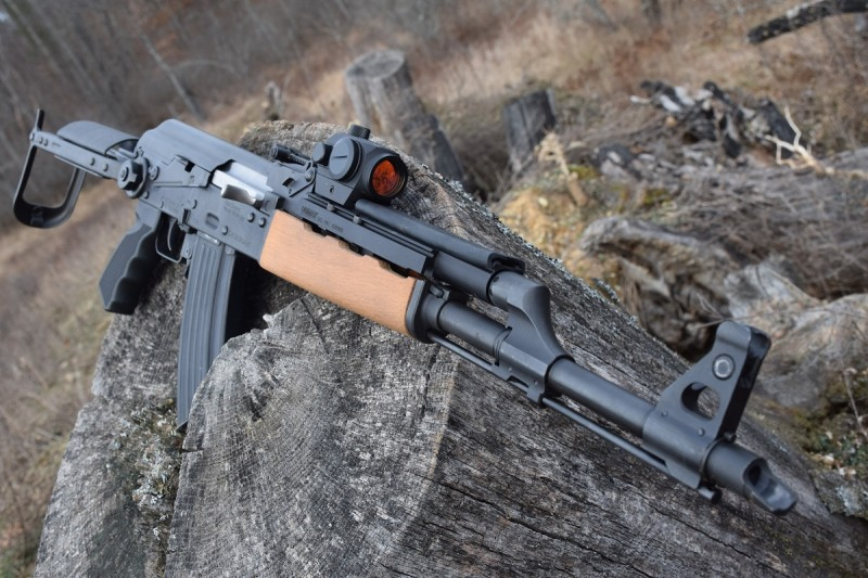 There are many accessories available for mounting optics on AKs. Seen here is an NPAP DF outfitted with an UltiMAK rail. Image by Matt Korovesis.