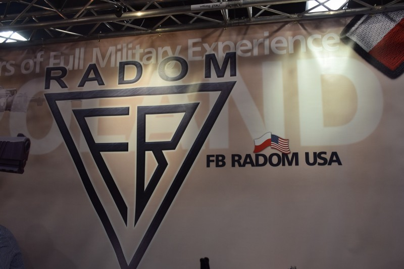"""""""FB Radom USA"""" was displayed prominently at the Radom booth this year."""