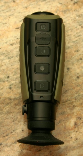 The controls of the Scout II monocular.