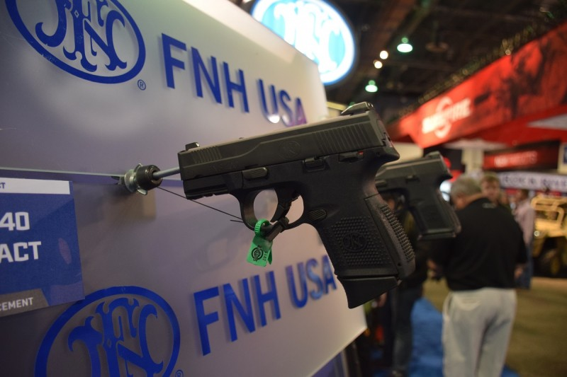 The FNS-40C, one of FNH USA's new compact striker-fired pistols.