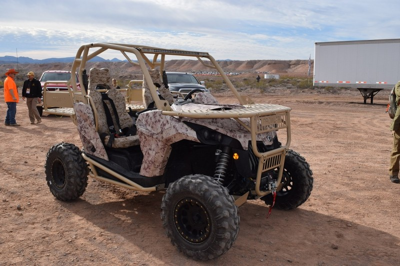 ATV Corp's modified Can-Am is ready to take our soldiers into battle and get them back out safely and quickly. It looks pretty sweet, too. Image by Derrek Sigler.