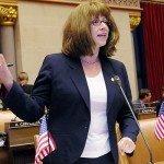 Assemblywoman Linda B. Rosenthal is pushing a bill that would ban children under 12 from gun shows.