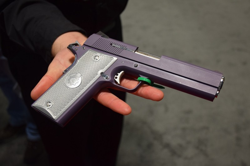 The Purple Bling Coonan .357. One of the finest pistols ever made. Image by Matt Korovesis.