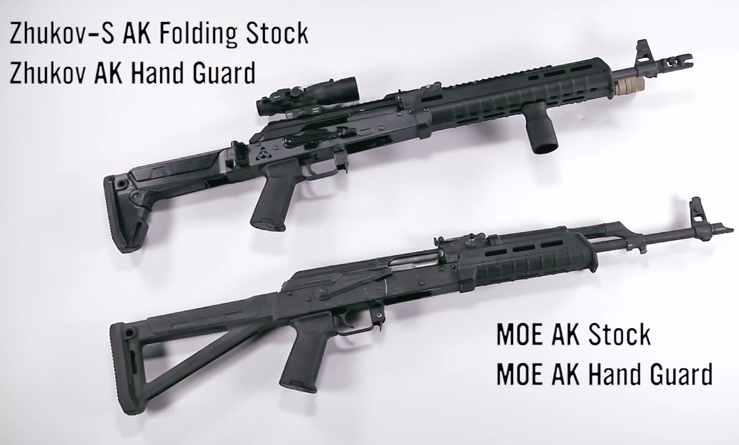 Magpul's new AK buttstocks and handguards.