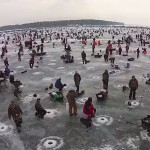 Volunteers drilled over 20,000 holes in Gull Lake for the world's largest ice fishing contest.