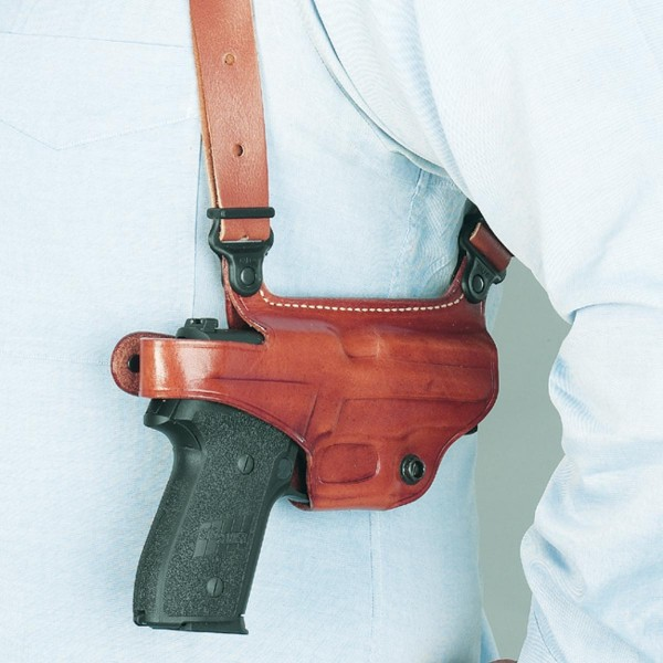 A good shoulder holster like this Galco Miami II is a great option if you spend a lot of time seated. Image courtesy Galco.