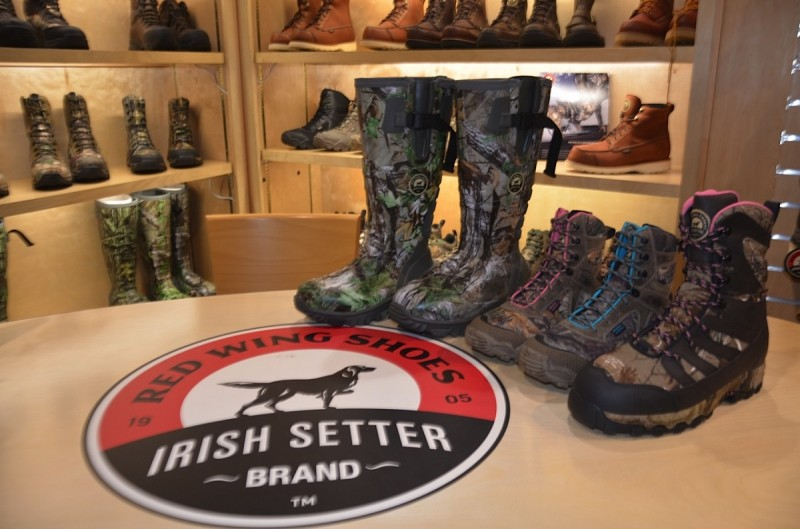 Some of Irish Setter Boots' footwear on display at SHOT 2015. Image by Britney Starr.