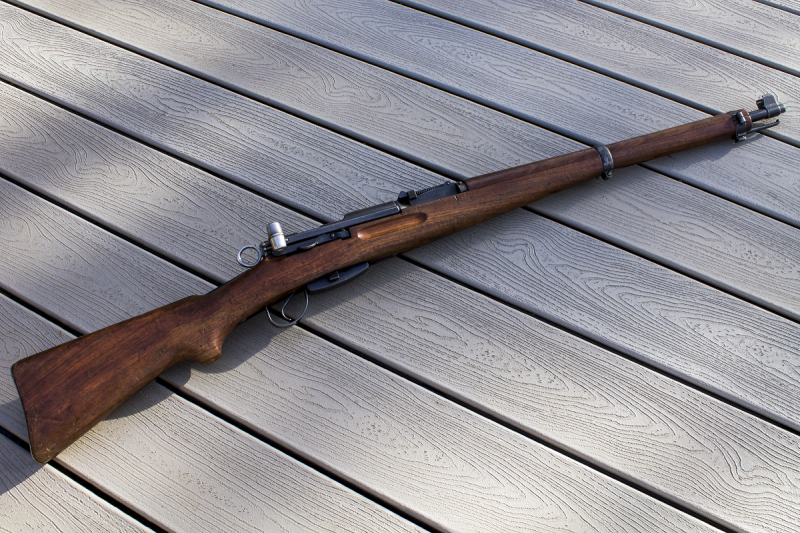The Swiss K31 uses a unique straight-pull action. Image by Casey Evans.