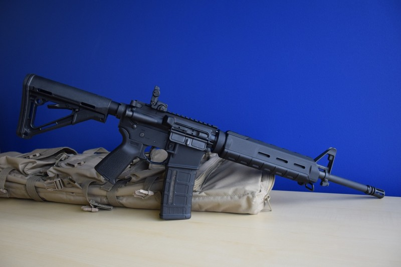 An AR-15 the author built using some of the parts listed below. Image by Matt Korovesis.