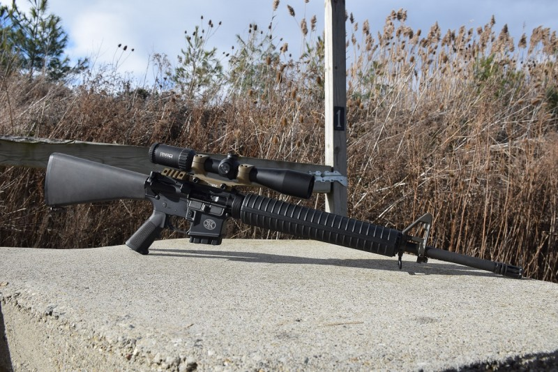 The author mounted a Steiner GS3 2-10x on the rifle for accuracy testing.