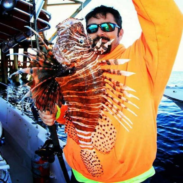 Jason Jones already got the state record, but this lionfish may also win the world record as well.