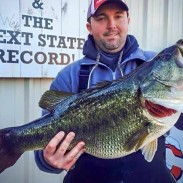 """The Tennessee state record for largemouth bass, caught by Gabe Keen. Unfortunately, at a """"mere"""" 15.2 pounds, it did not make this list."""
