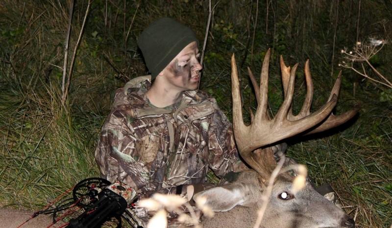 Kellen Binger's Wisconsin buck. Image courtesy Tom Binger.