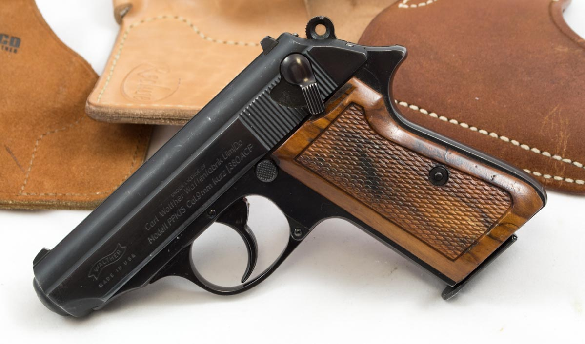 A Walther PPK/S, a combination of a Walther PP frame and PPK barrel and slide.