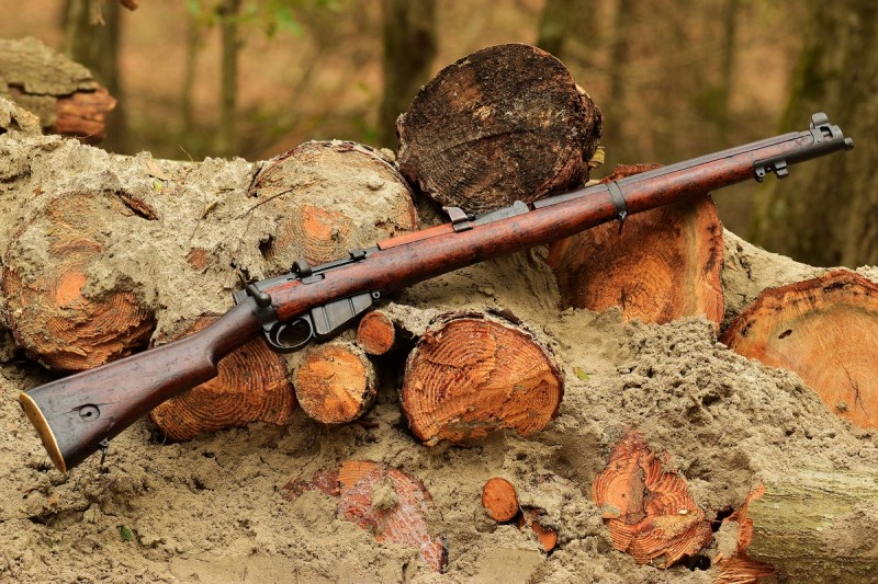 An SMLE No.1 MKIII originally manufactured in 1917 and rebarreled in 1924. This rifle saw use by the British Home Guard throughout World War Two. Image by Jim Grant.