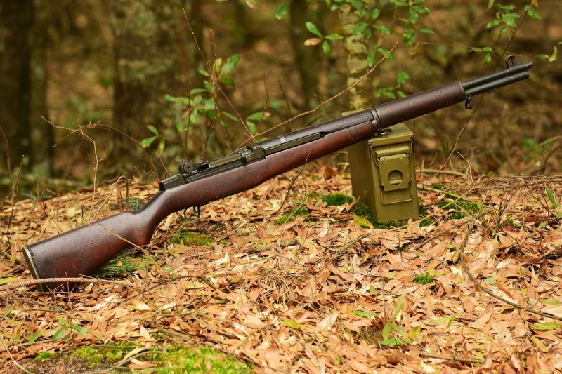 An M1 Garand with a Harrington and Richardson receiver made in 1955 and a barrel made in 1943. Image by Jim Grant.