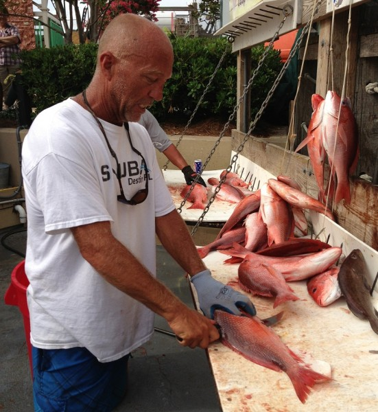 Filets of red snapper fresh from the Gulf are one of the great treats of time at the beach.