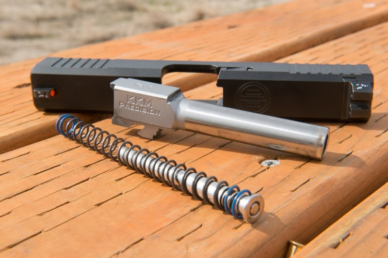 A KKM Precision barrel and Sprinco recoil management system rounded out the build.