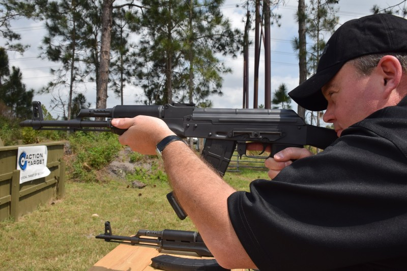 The DDI rifles with non-folding stocks feature side-mounted scope rails.