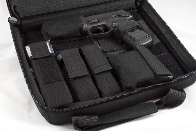 The included carrying case is a bona-fide range bag.