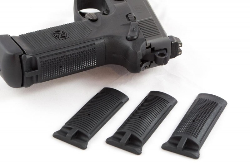With 15+1 rounds of .45 ACP, it sounds big, but it really isn't. Four backstrap inserts let you choose your grip size.