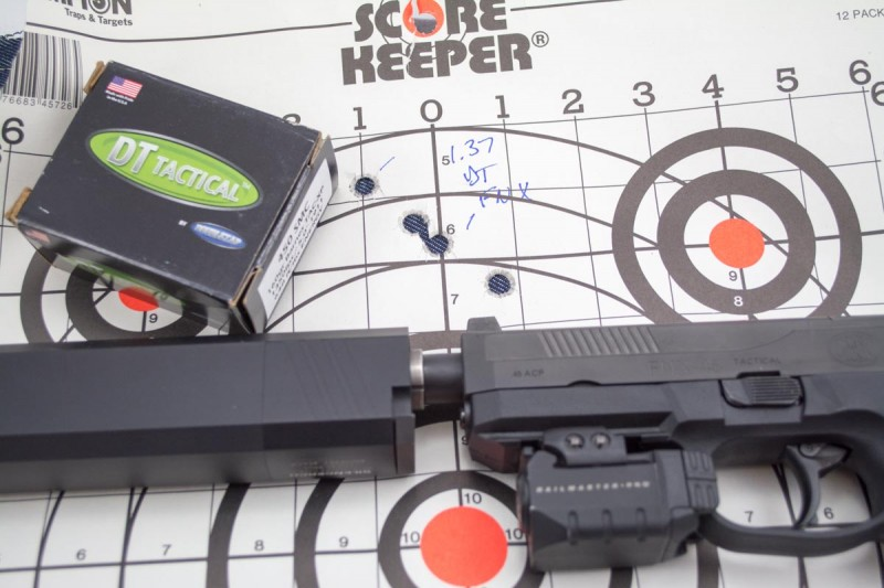 It'll shoot. This group was shot using Doubletap's 450 SMC ammo.