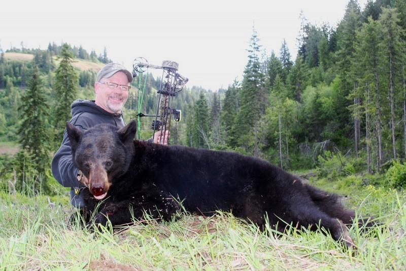 The author shot a nice representative bear on the first morning of his hunt, but if you hold out your chances of getting a big or color-phase bear are very good.