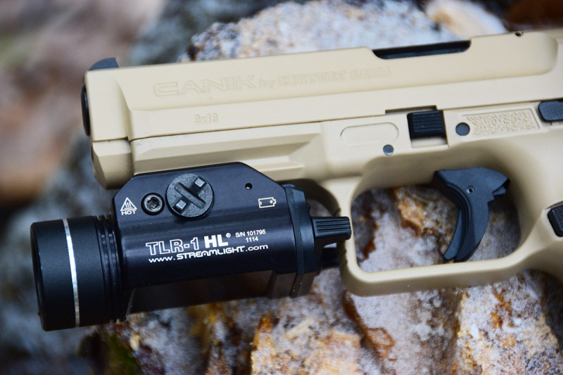 Also keeping with other modern designs, the TP9SA features an accessory rail on the frame right below the muzzle.