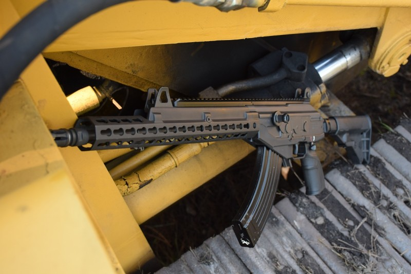 A Galil ACE rifle outfitted with the RS Regulate GAR.
