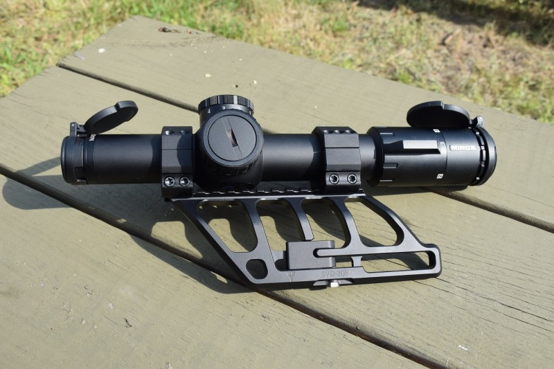 The SVD-305 lets the shooter mount their optics directly over their rifle's bore, and secures to SVD-pattern side rails using a titanium locking bolt.