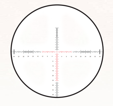 The SCR reticle in MOA format. Image courtesy Burris.