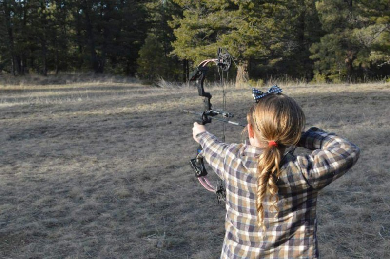 At age six, Phoenix already has four years of archery experience and enjoys an active outdoors lifestyle with her family. Image courtesy Nikita Dahlke.