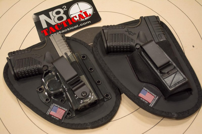 N82 Tactical Holsters with a pair of Springfield Armory XD-S pistols.