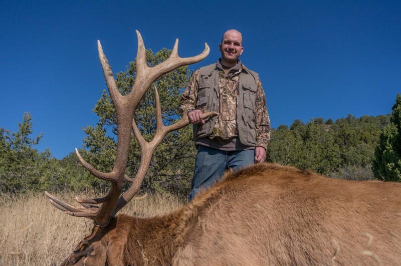 Patrick with his 8x8 elk.
