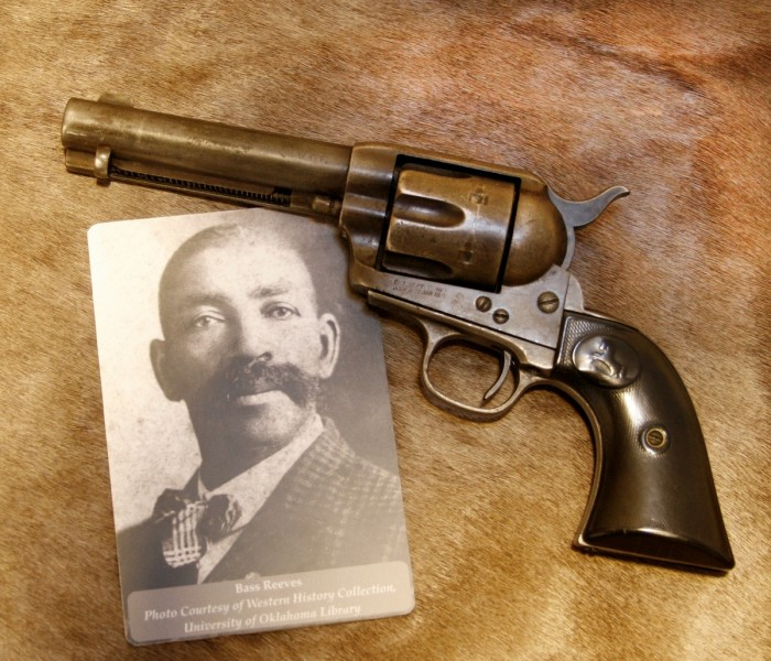 Bass Reeves' Colt Single Action Army .45 Revolver. Image courtesy Western History Collection, University of Oklahoma Library.