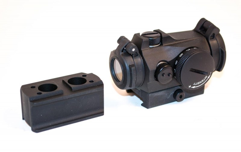 The Aimpoint Micro T-2 with high mount for AR-type rifle use.