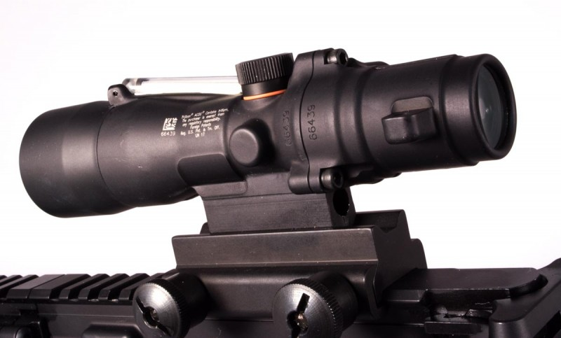 The Trijicon ACOG for 300 Blackout offers similar features than the standard ACOG, but is a little more slim.