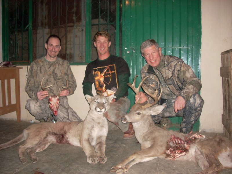 Harvests from the 2010 hunt. From left to right: Chris, David, and the author. Image courtesy Dennis Dunn.