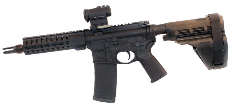 The test platform: CMMG's Mk4 300 AAC Blackout Pistol
