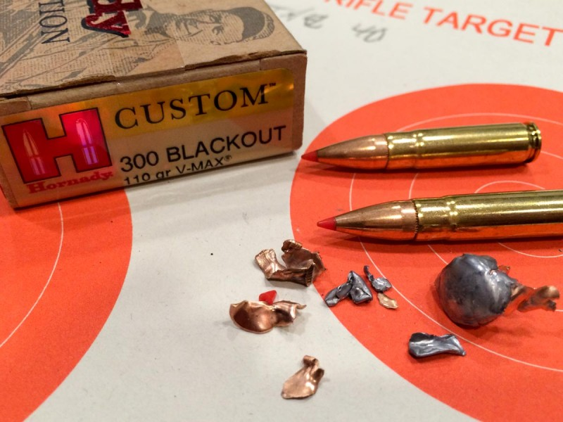 Hornady's V-Max load did what it was supposed to, and basically blew up.