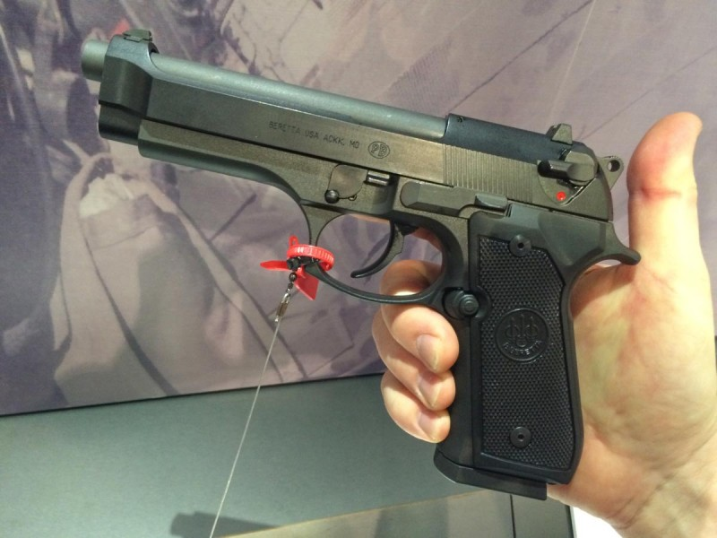 It may look like a standard 9mm Beretta M9, but it's really a .22.