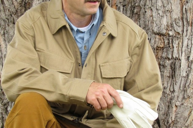 Duluth Trading Company makes some of the best outdoor-oriented clothing out there. Seen here is the Fire Hose Field Coat.