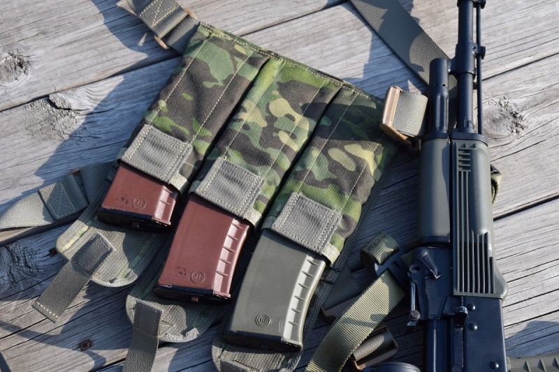 The UW Gear Bandoleer is a handy mag carrier that's perfect for covertly carrying mags on your person or making a range trip easier.
