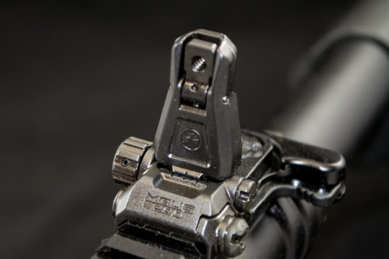 Magpul MBUS flip-up sights are included.