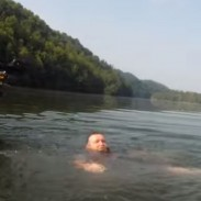 One angler found himself in the right place at the right time when a boater fell into the water.