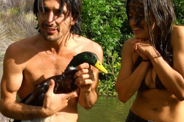 Yes, that's a duck. If you think catching a duck barehanded is easy, you obviously never tried it before.